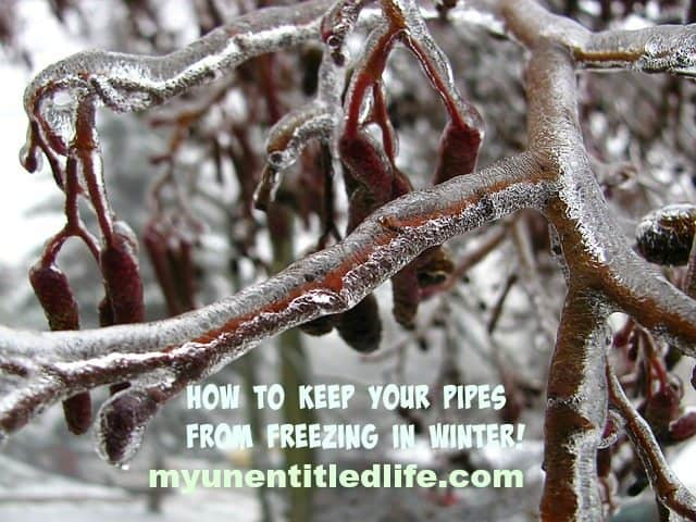 how to keep your pipes from freezing
