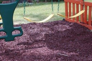 rubberific mulch under playplace