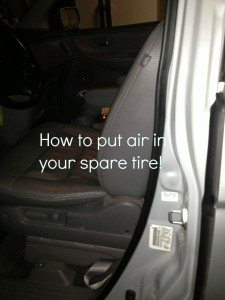how to put air in your spare tire