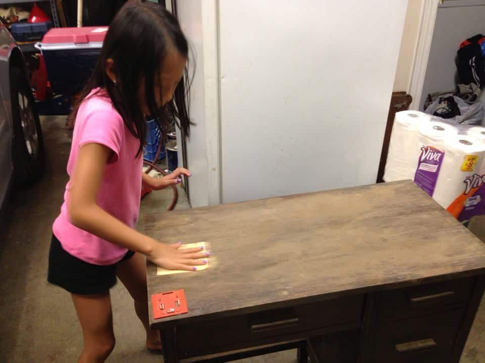 repainting a desk