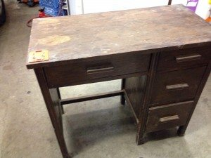 repainting an old desk