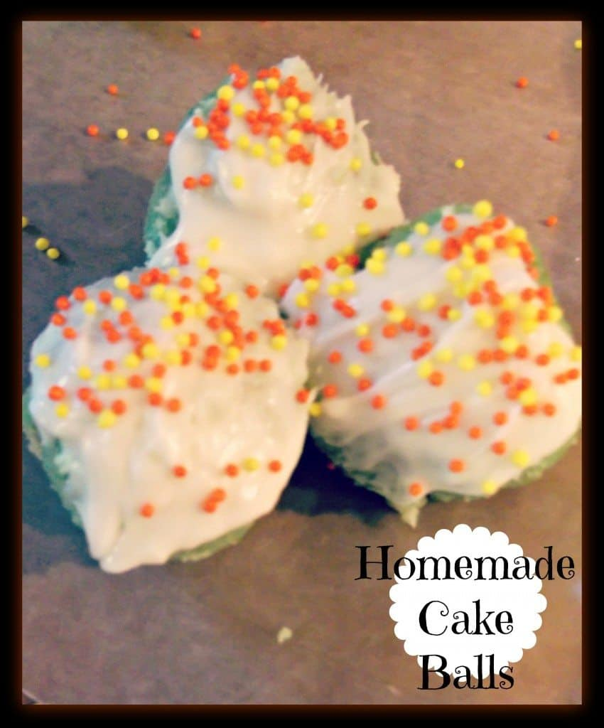 how to make homemade cake balls