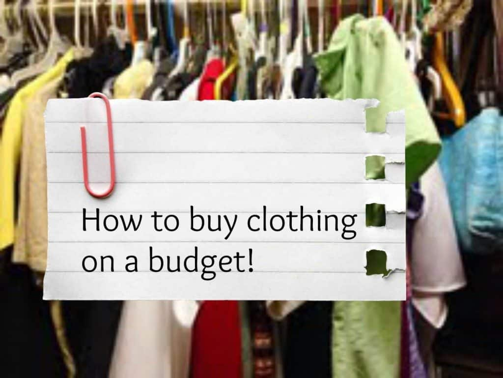 clothing on a budget