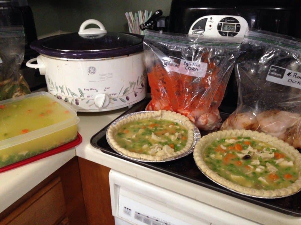 creating freezer meals