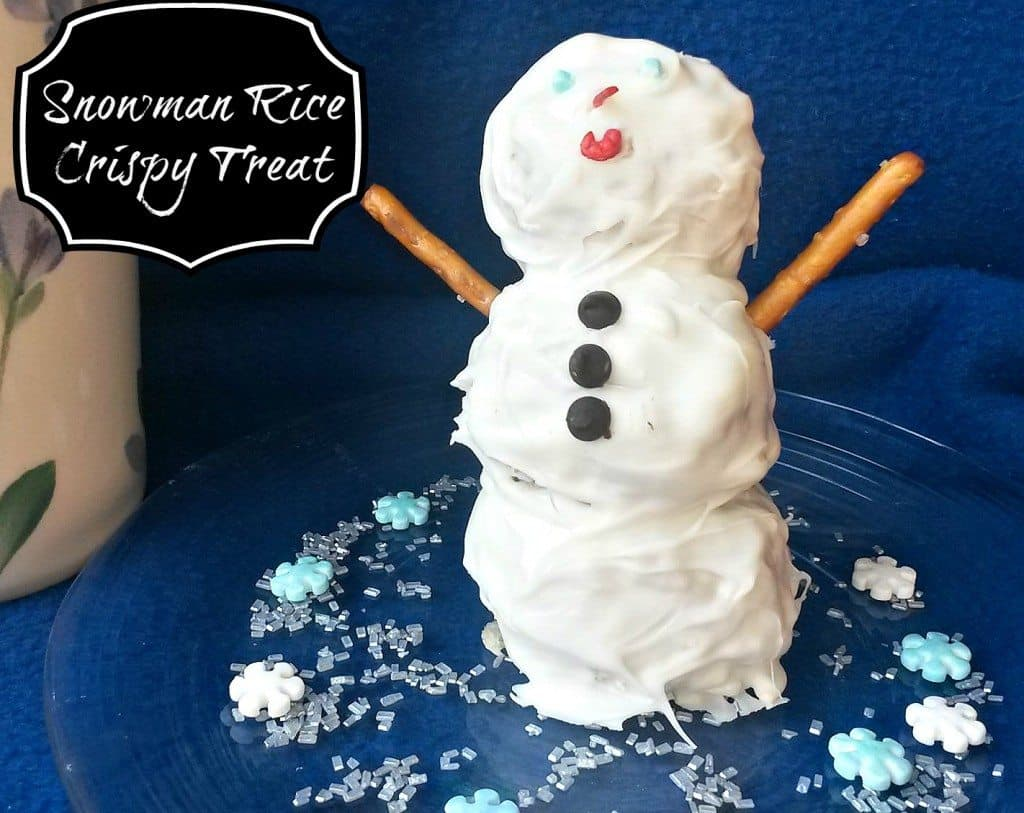 rice crispy snowman