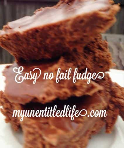 easy no fail fudge recipe