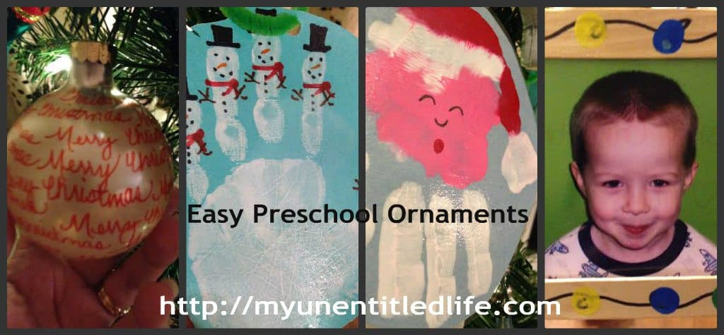 easy preschool ornaments
