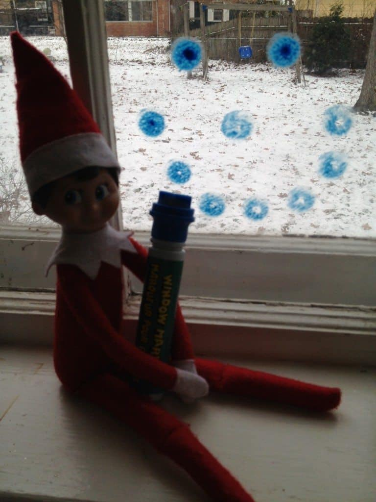 elf on the shelf making mischief