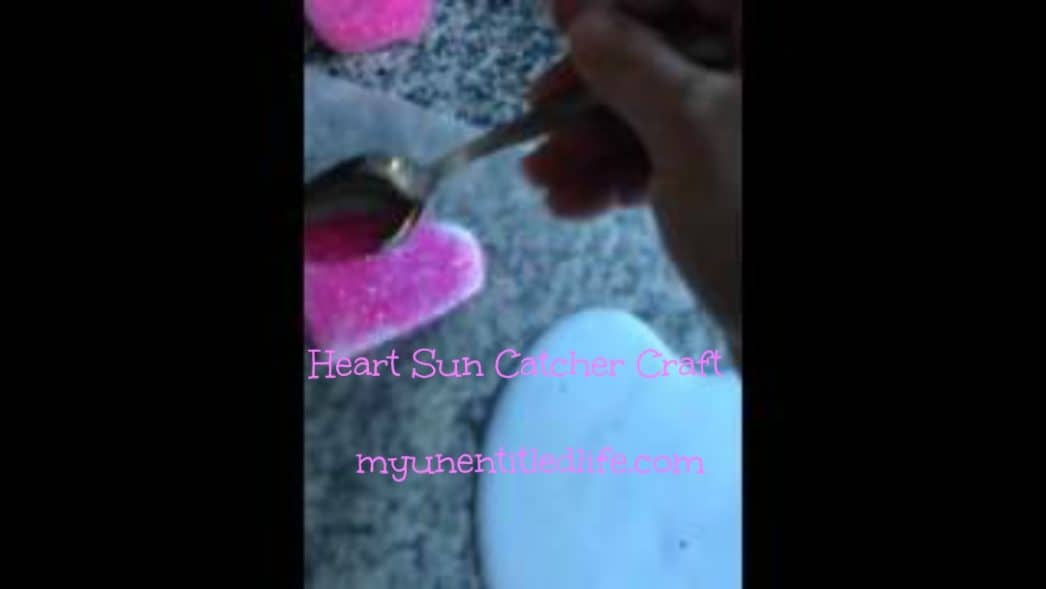 heart sun catcher craft with what ingredients you already have