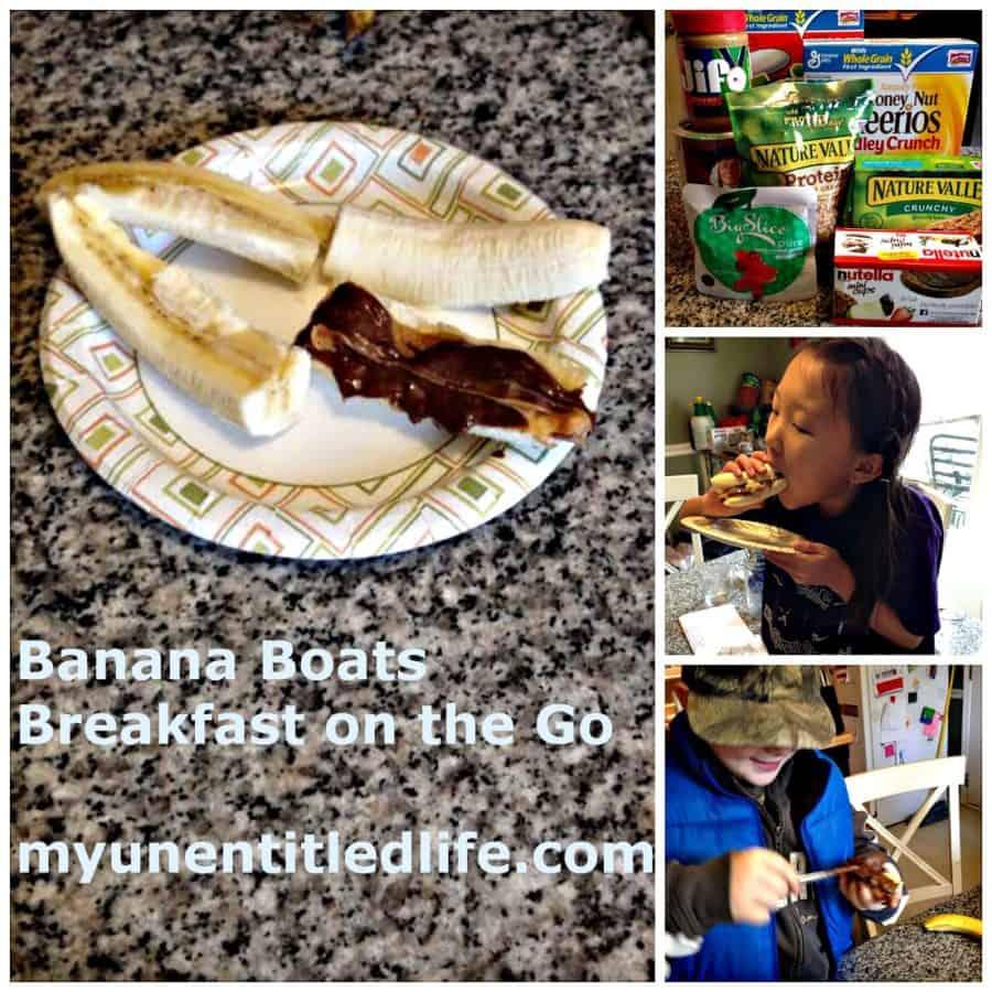 banana boats breakfast on the go