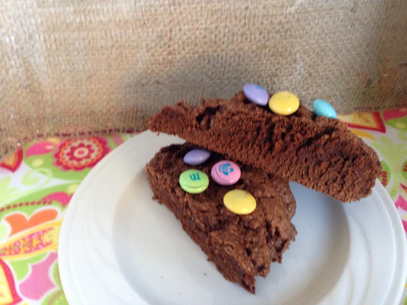 My daughter and I made Easter brownies together.