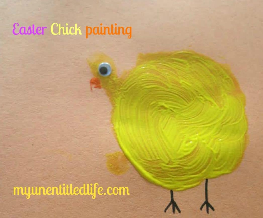 easter chick painting