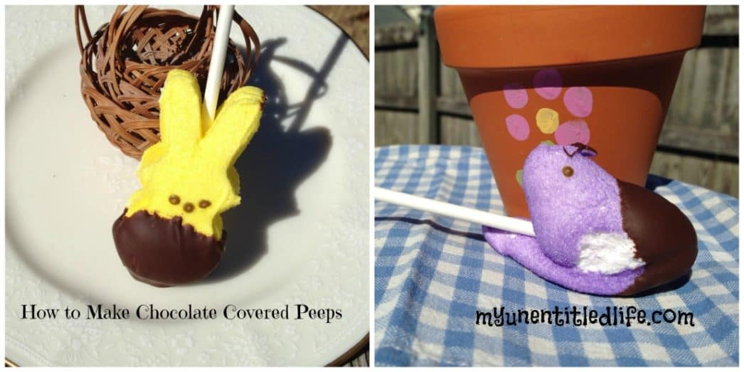 how to make chocolate covered peeps