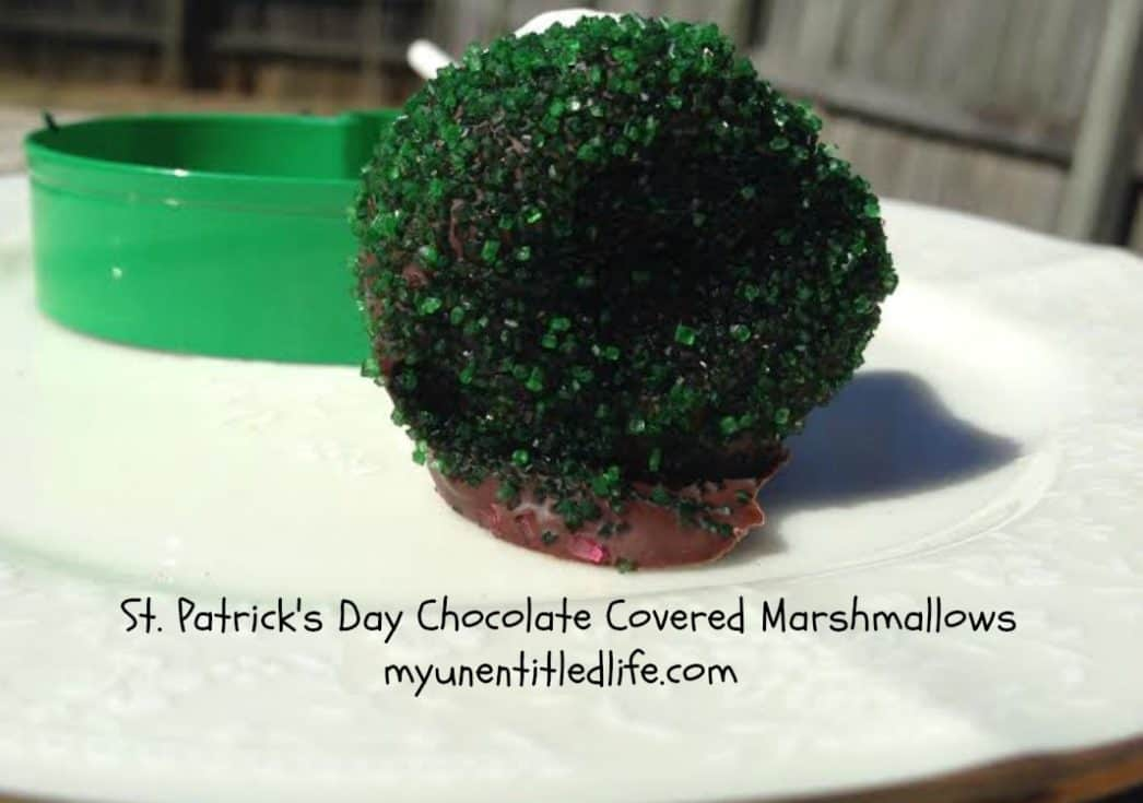 St. Patrick's Day Chocolate Covered Marshmallows