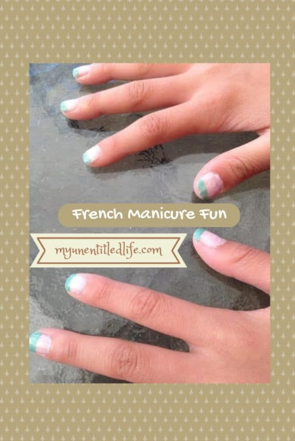 how to paint a french manicure with colors other than white