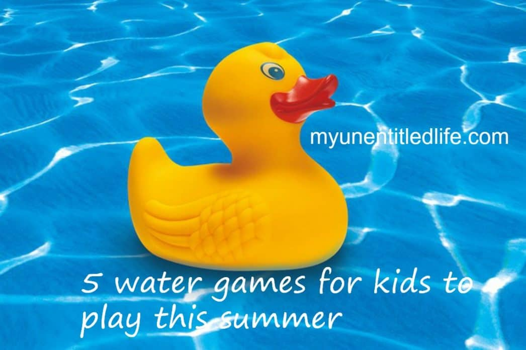 5 water games for kids to play this summer