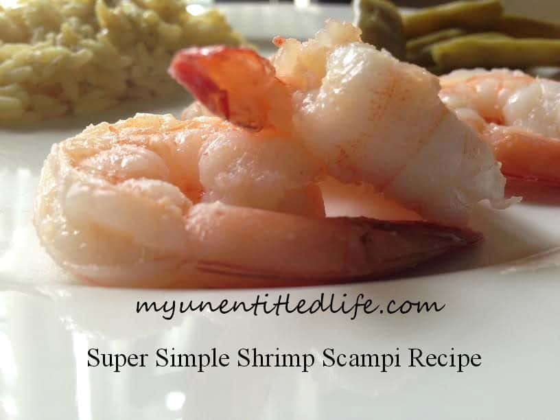 Super Simple Shrimp Scampi recipe that is low in fat but high in taste!