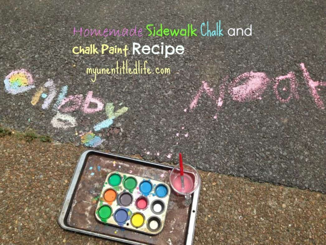 homemade sidewalk chalk and chalk paint recipe