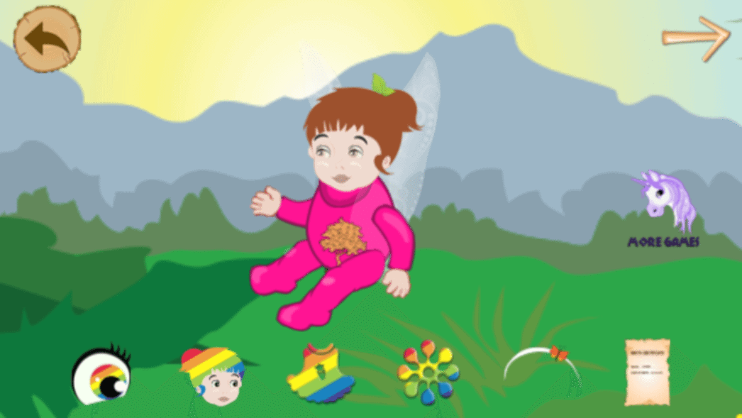 dressing baby fairies