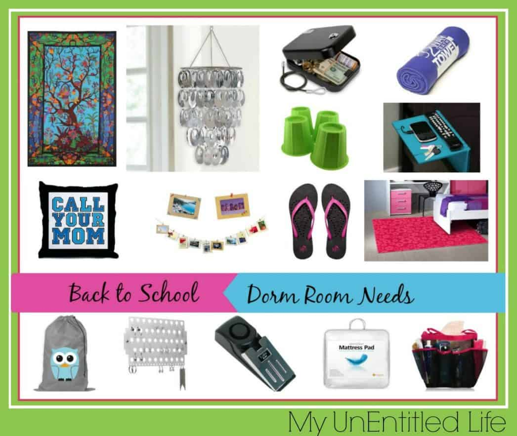 dorm room needs for back to college and school
