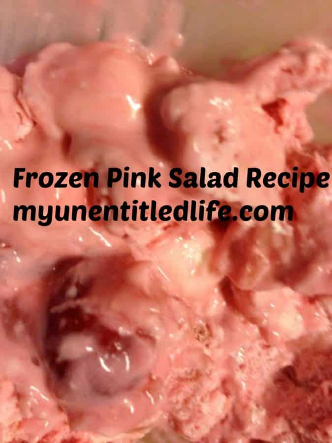 yummy frozen pink salad