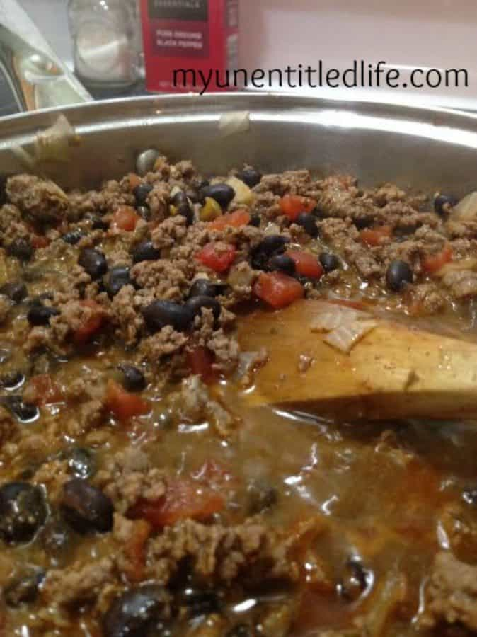 taco meat cooking 1