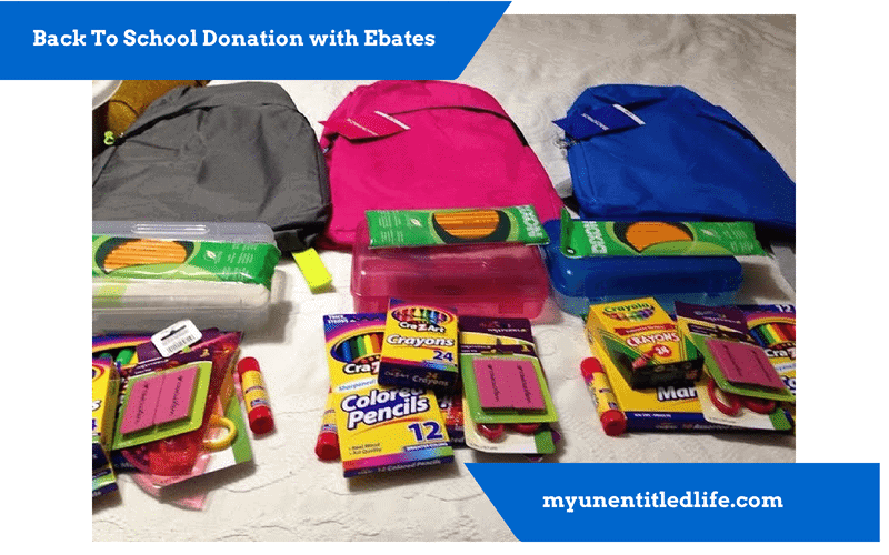 giving back backpack donations