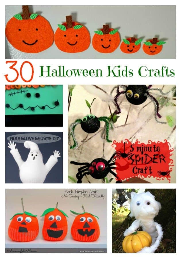 30 Halloween Kids Crafts