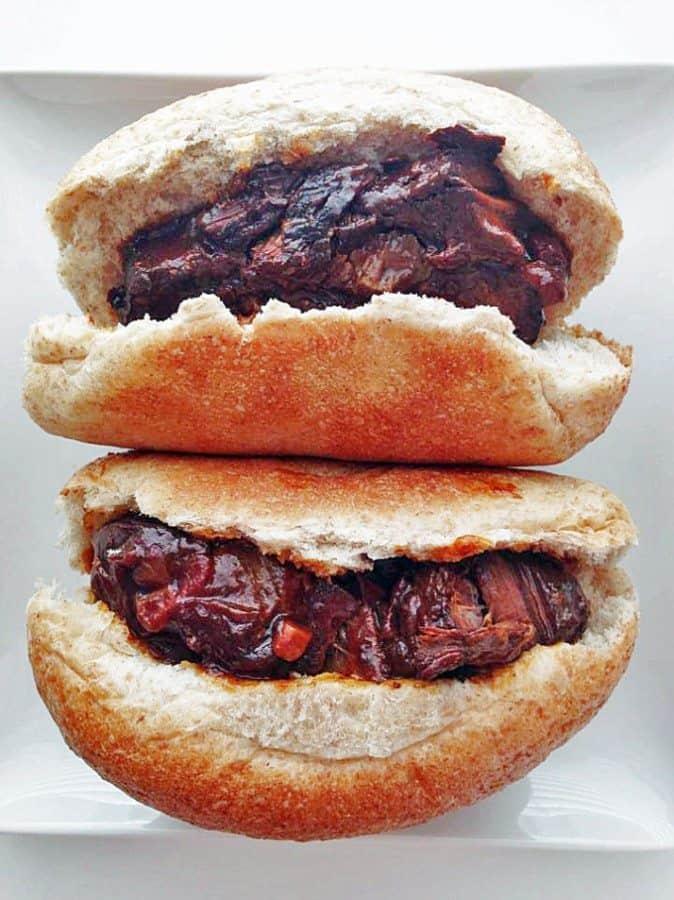 bbq beef rib sandwich