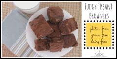 fudgy bean brownies