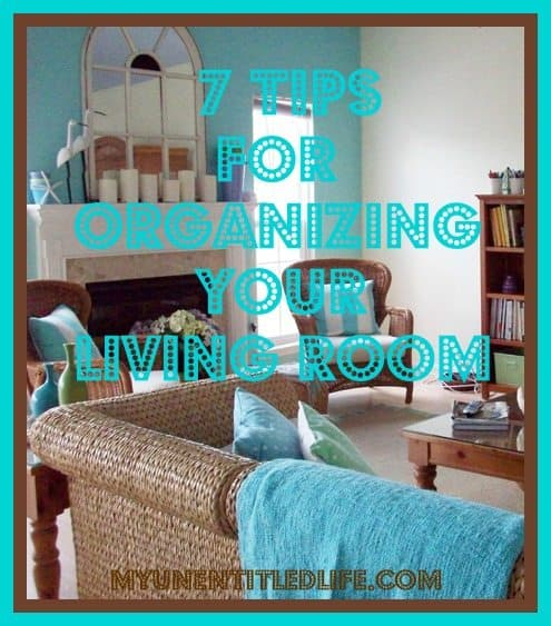 tips to organize your living room