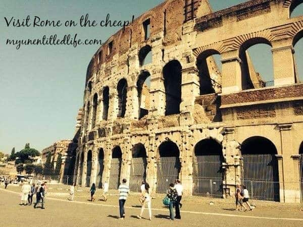 visit rome on the cheap