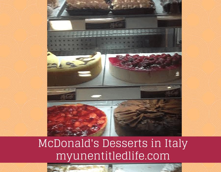 McDonald's Desserts in