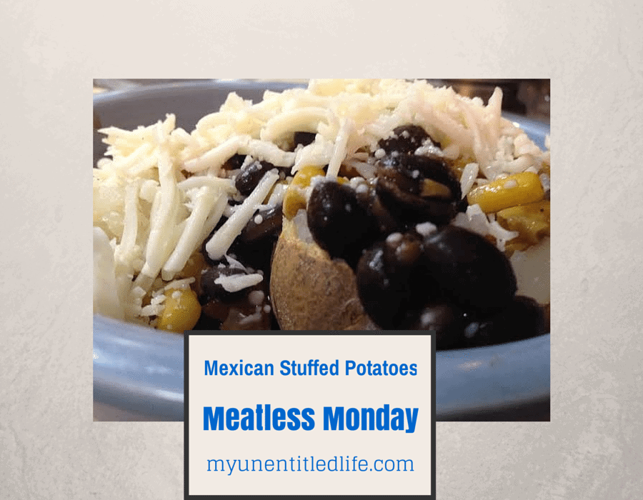 Mexican Stuffed Baked Potato meatless meal