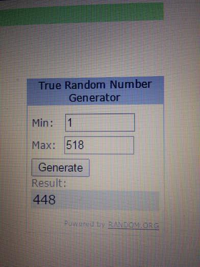 amazon winner random.org