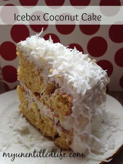 icebox coconut cake