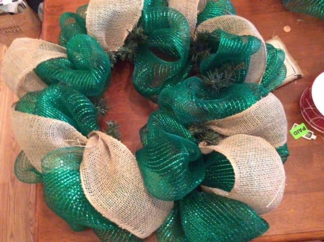 burlap deco mesh wreath tutorial
