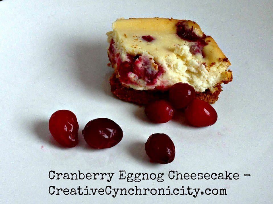 cranberry eggnog cheesecake