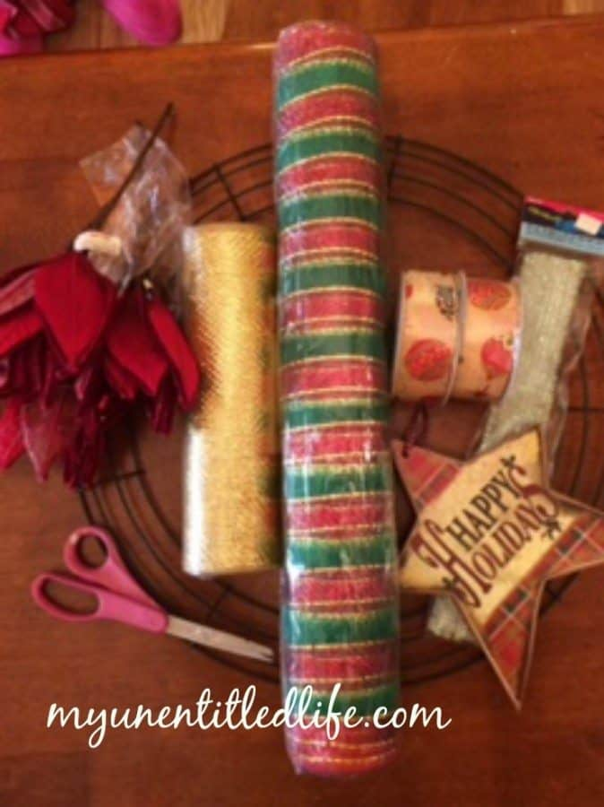 curly deco mesh wreath tutorial..