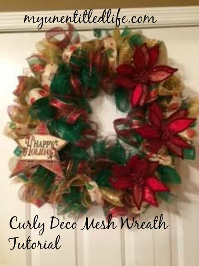 curly deco mesh wreath tutorial...
