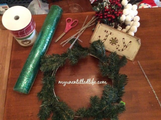 deco mesh wreath supplies.