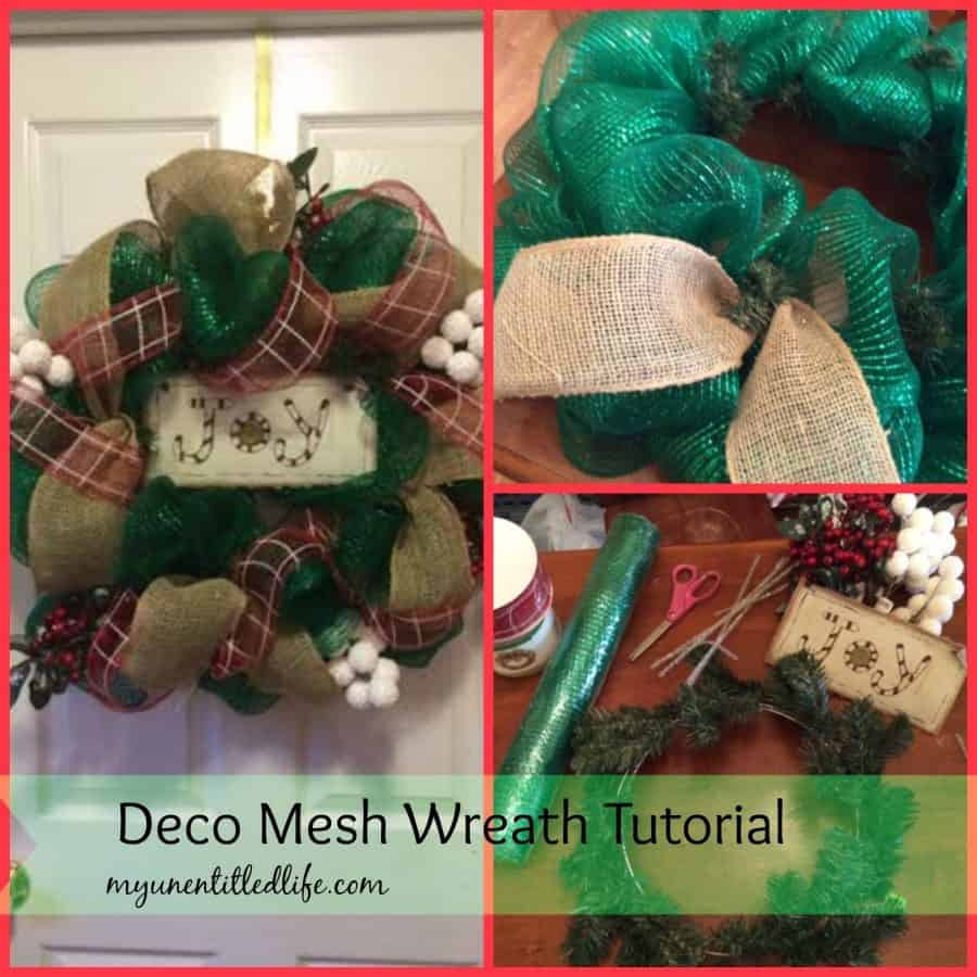 deco mesh wreath tutorial