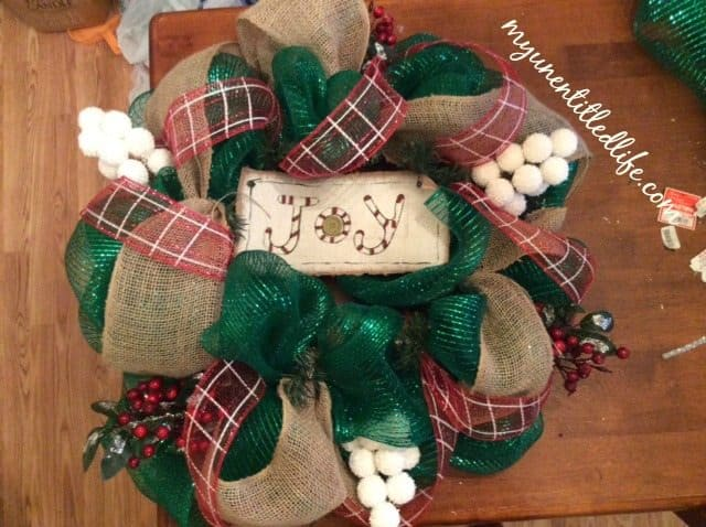 ribbon and add ins for the deco mesh wreath tutorial.