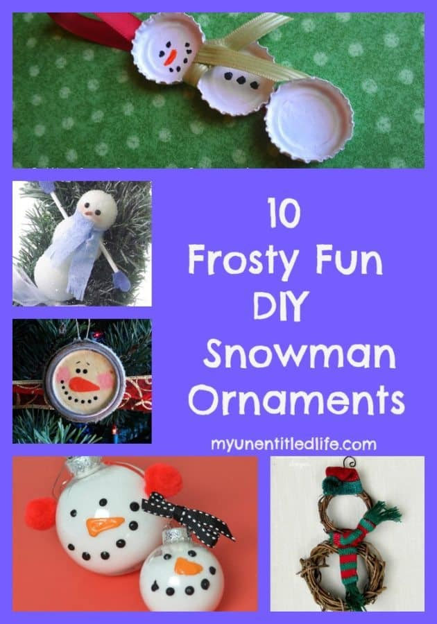snowman ornament collage