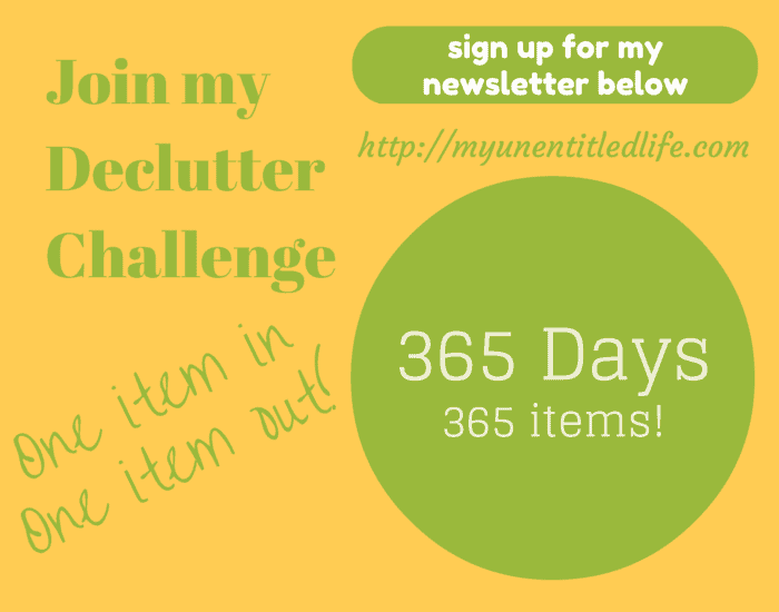join my declutter challenge