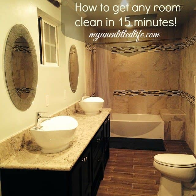 clean your bathroom in 15 minutes