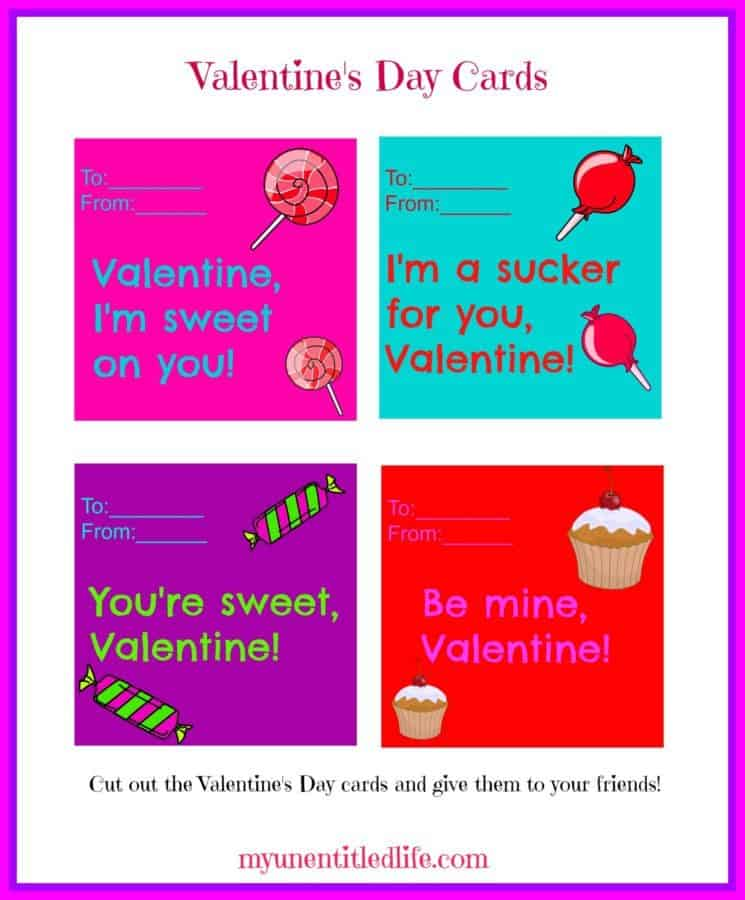 valentine's day cards printables