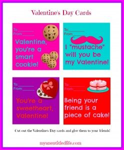 Valentine's Day Cards Printables