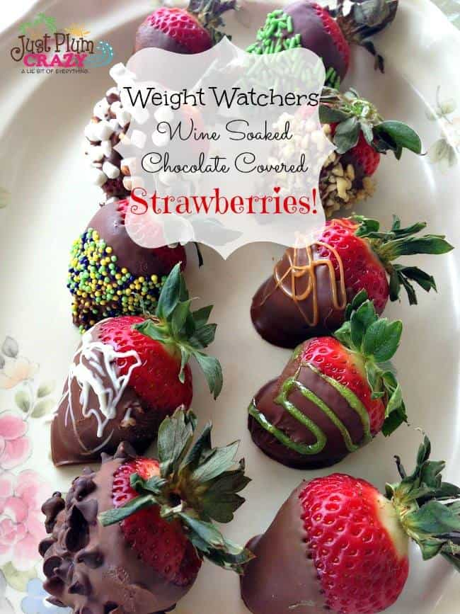 wine soaked chocolate covered strawberries