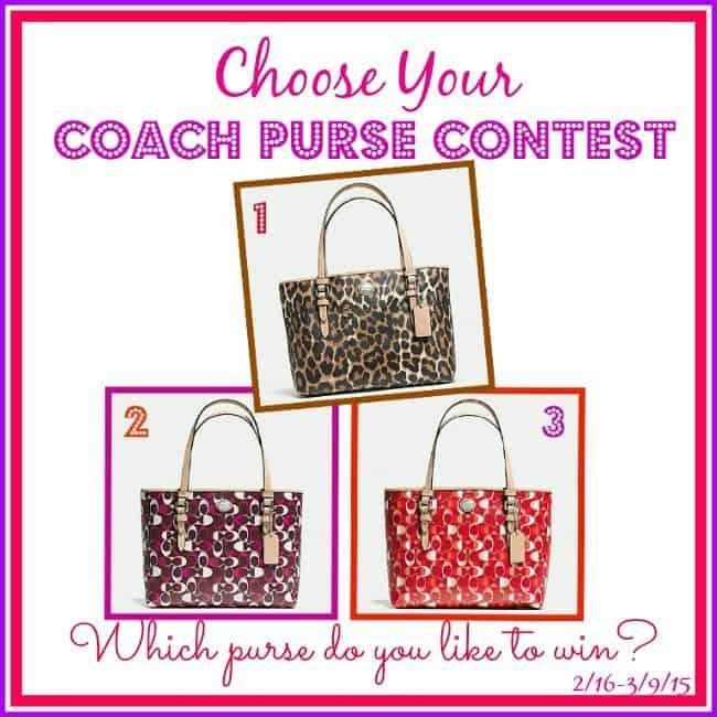 coach purse contest